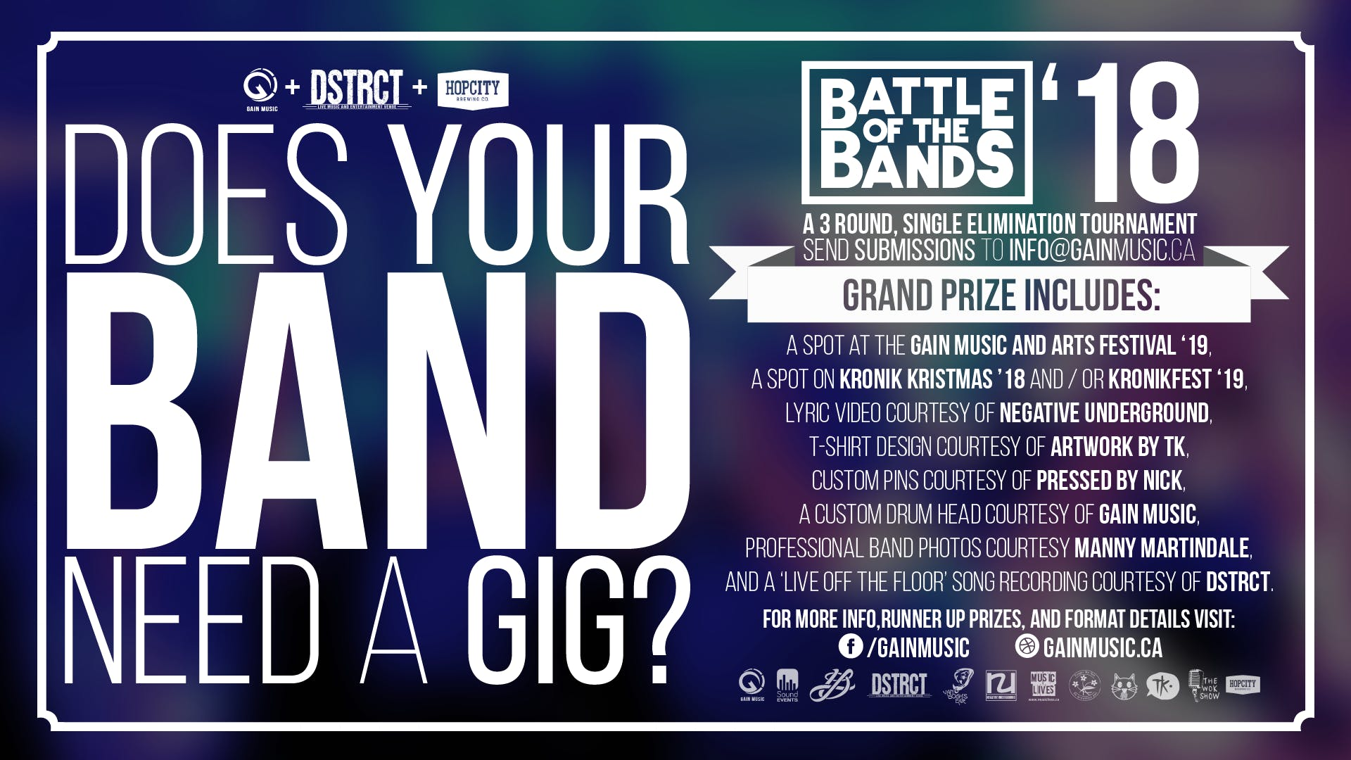 GAIN Music Battle of the Bands - BATTLE #1