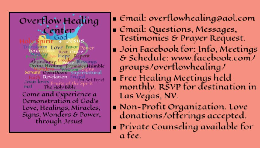 Overflow Healing Meeting at Whitney Ranch Business Park, Henderson