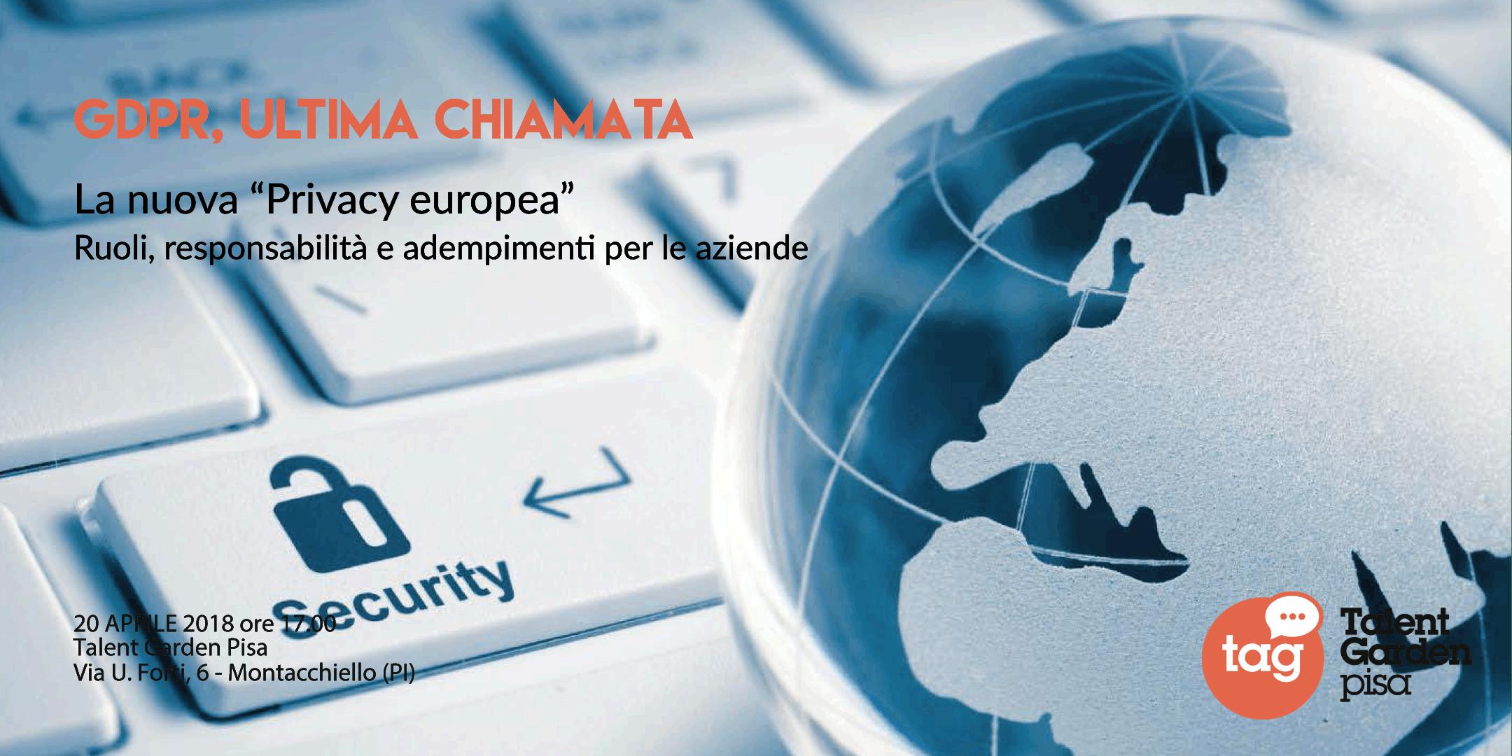 """GDPR, ultima chiamata. La nuova """"Privacy euro"""