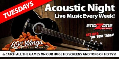 Acoustic Tuesdays at The End Zone Bar & Grill