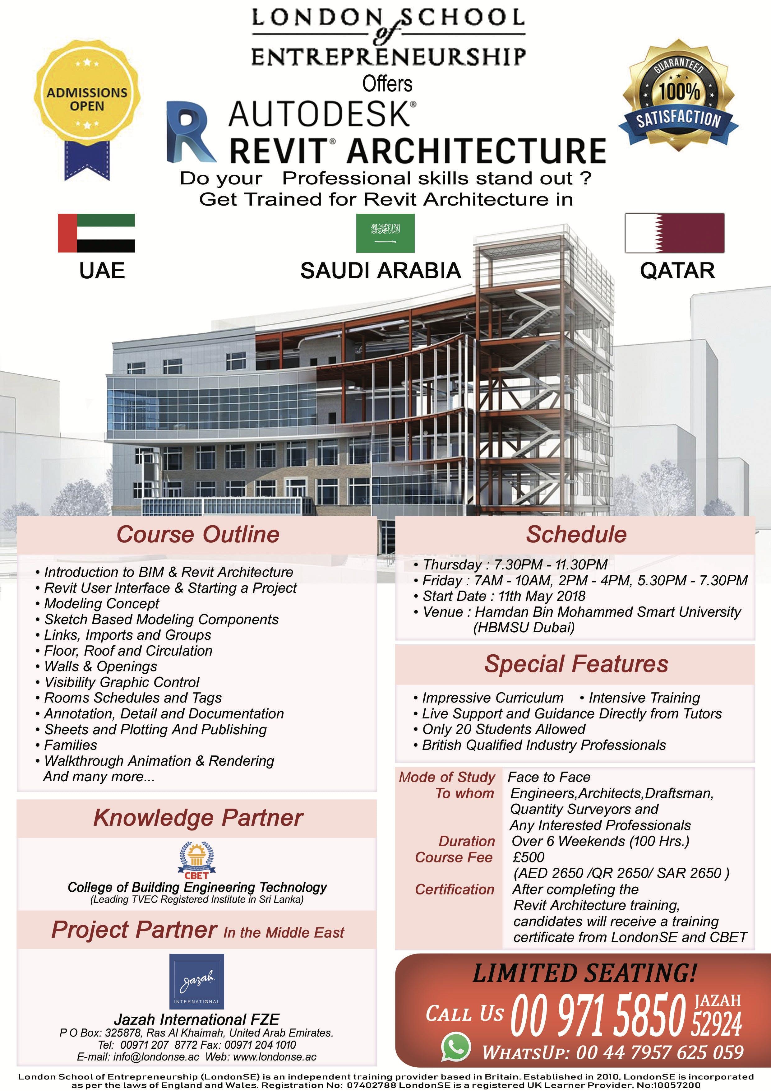 revit architecture training in dubai 11 may 2018