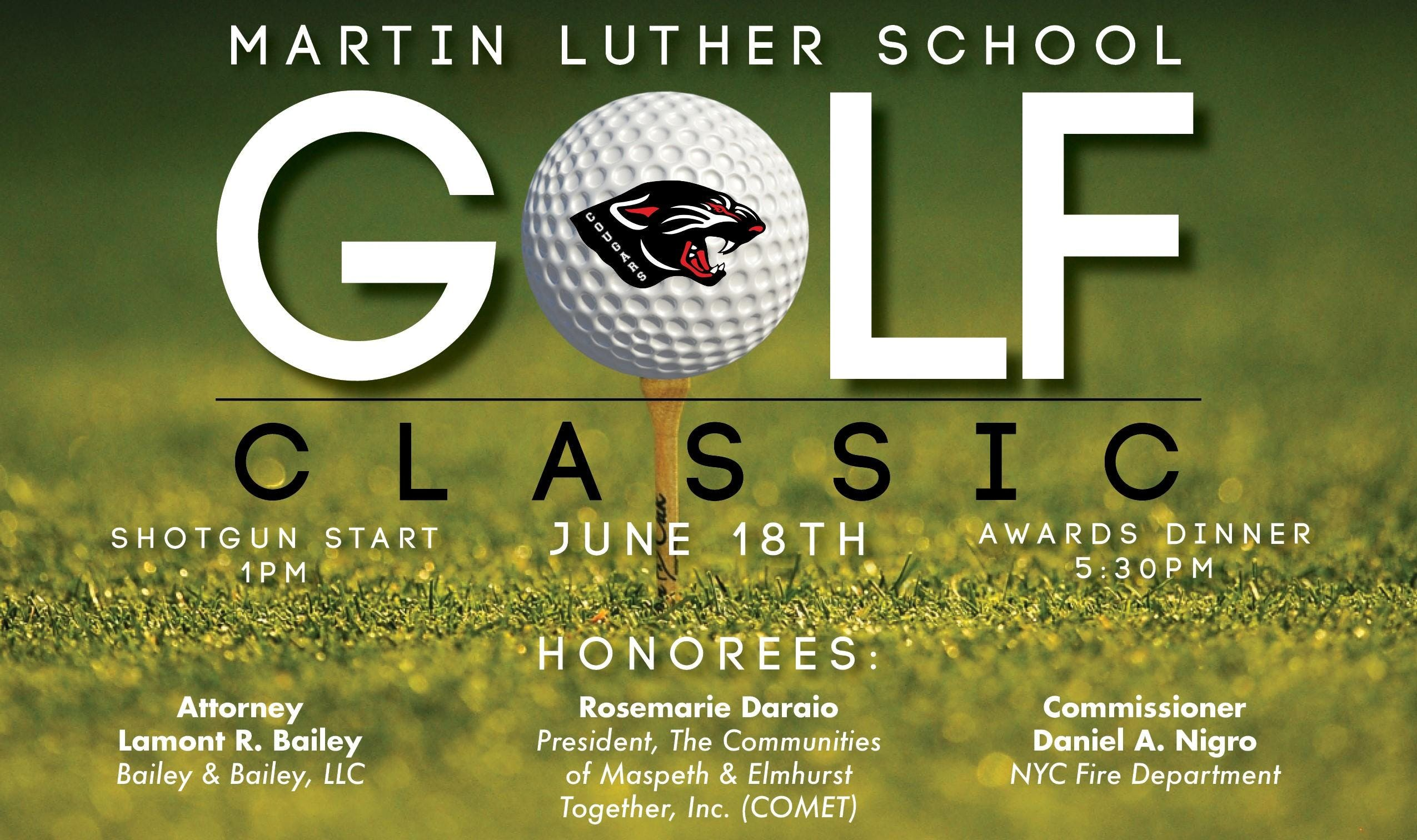 Martin Luther School Cougar Golf Classic