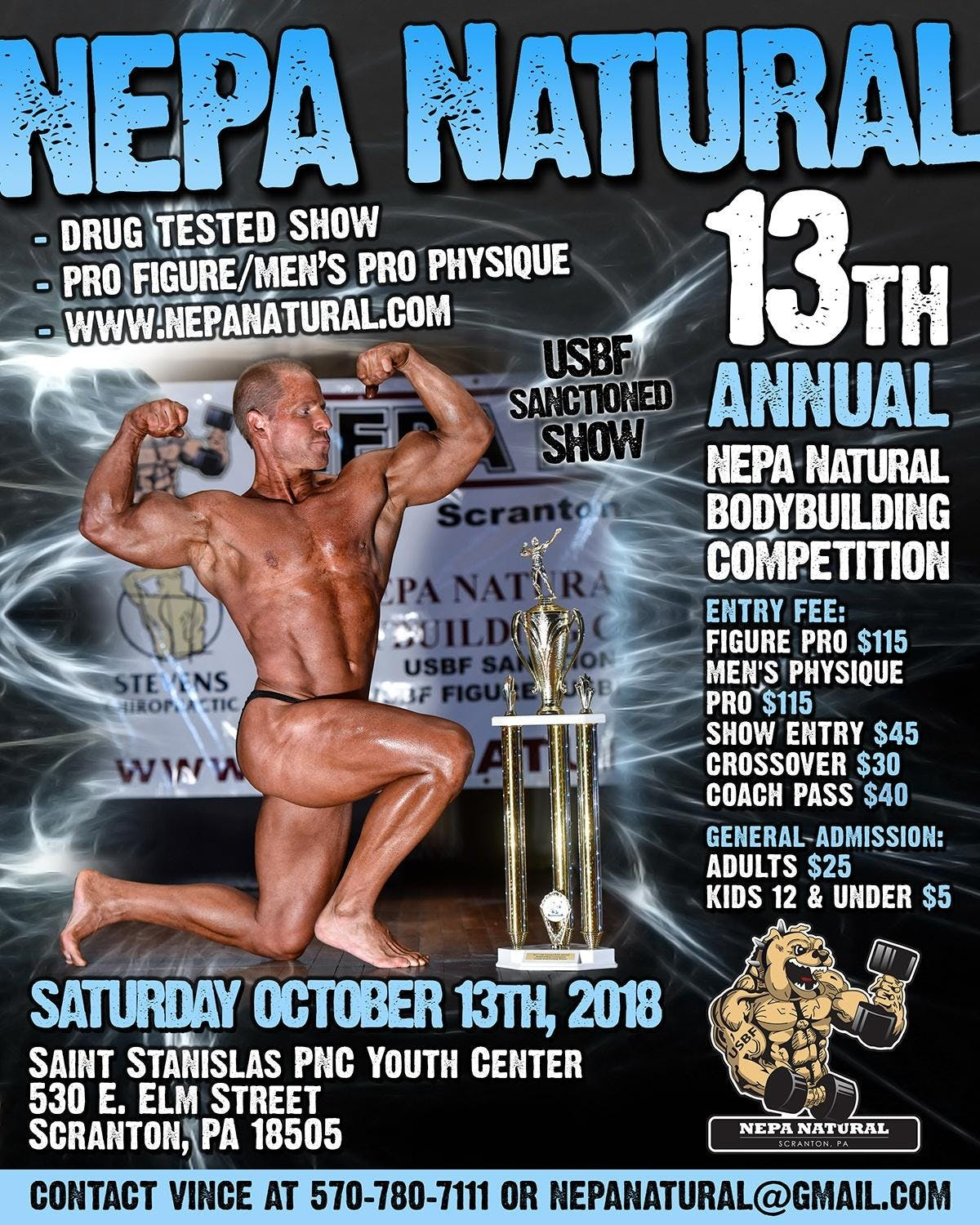 13th Annual Nepa Natural Body Building Competition 13 Oct 2018