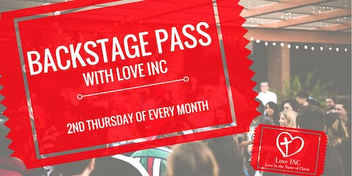 Backstage Pass - Tour Love INC of SE Ottawa County, Jenison and The City of Grandville