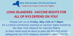 New York Alliance for Vaccine Rights Community Meeting