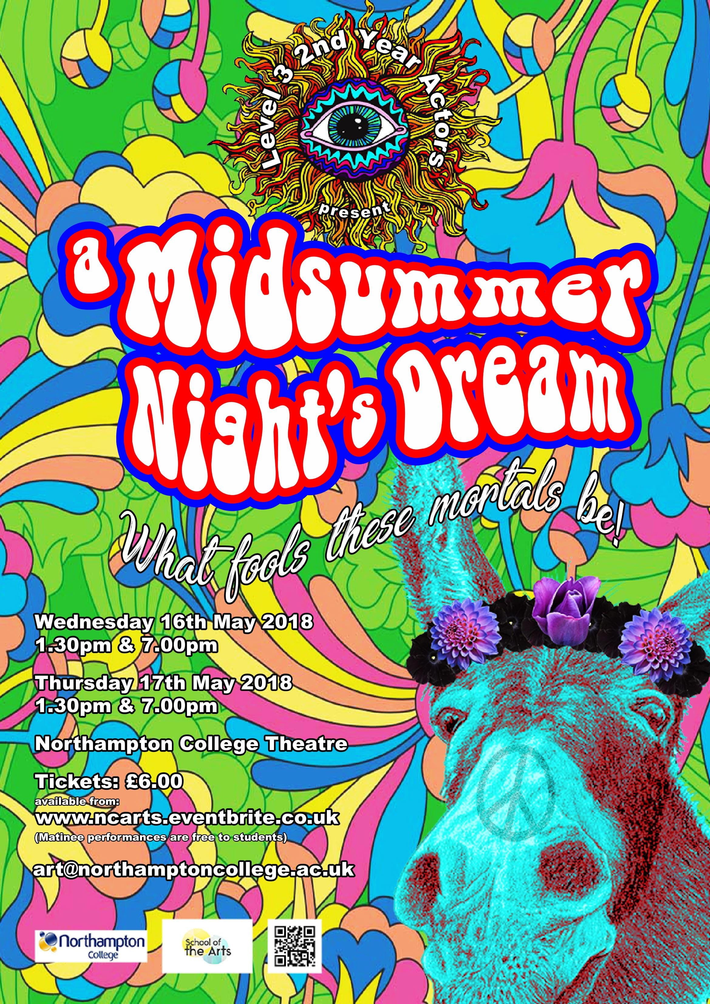 Northampton College Presents `A Midsummer Night's Dream`
