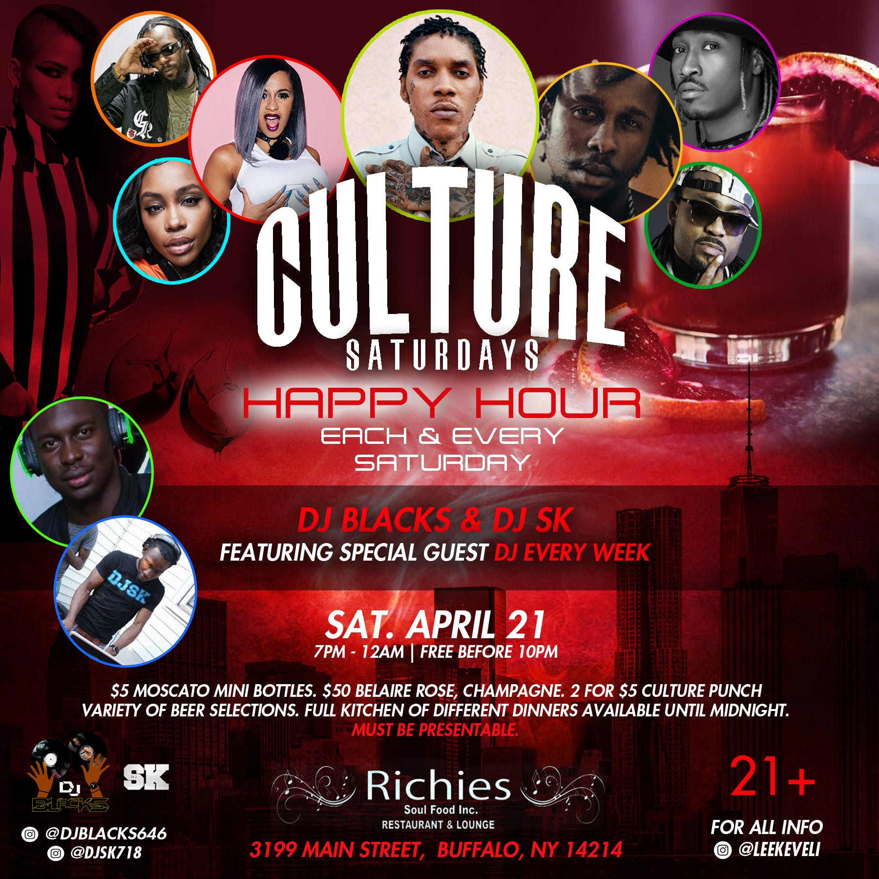 Culture saturdays (happy hour)