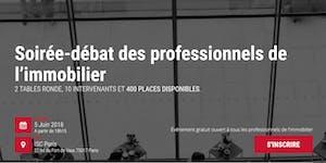Soirée-débat des professionnels de l'immobilier