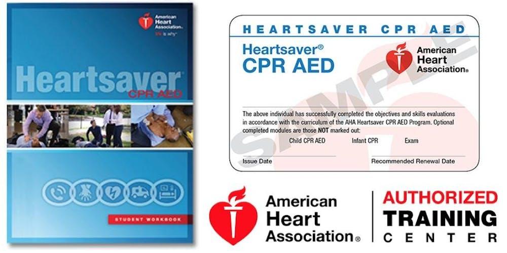 Heartsaver Cpraed Class Registration Multiple Dates Eventbrite
