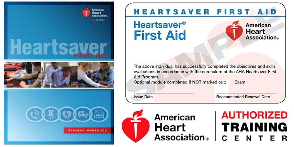Heartsaver First Aid No Cpraed Class Registration Multiple Dates