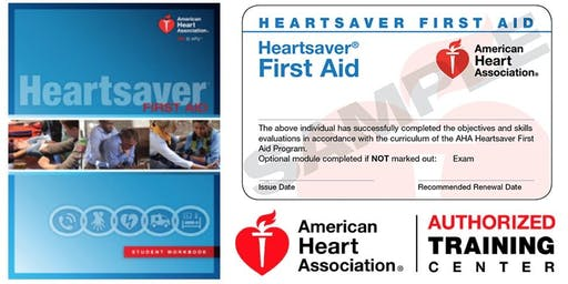 Heartsaver First Aid (No CPR/AED) Class
