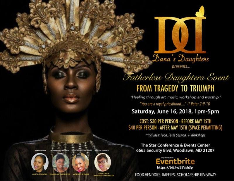 Fatherless Daughters Event: Tragedy to Triumph - 16 JUN 2018