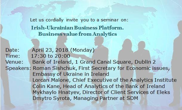 Business Value from Analytics. Irish-Ukrainian Business Platform.