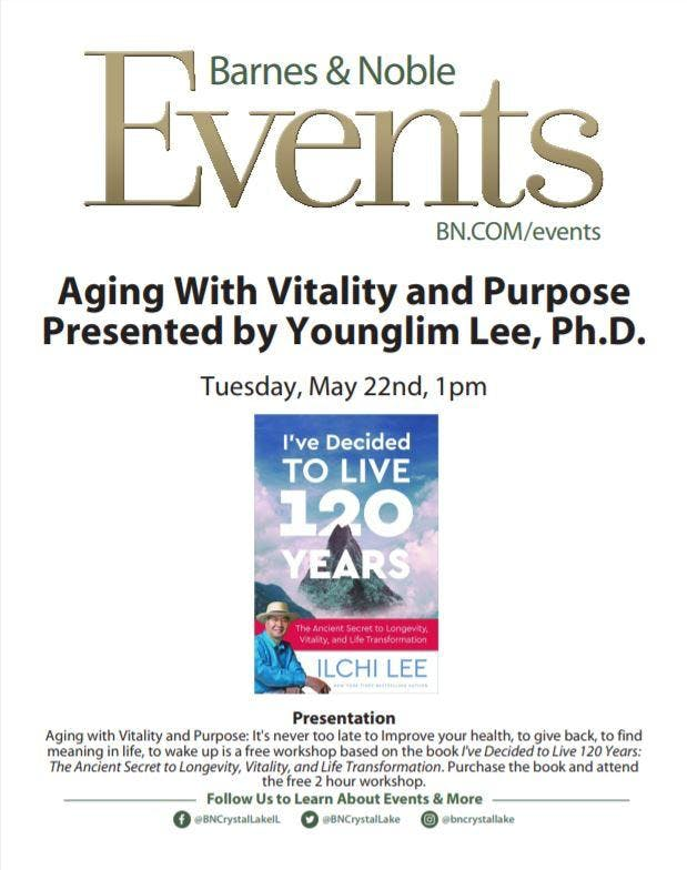 FREE WORKSHOP: Aging With Vitality & Purpose