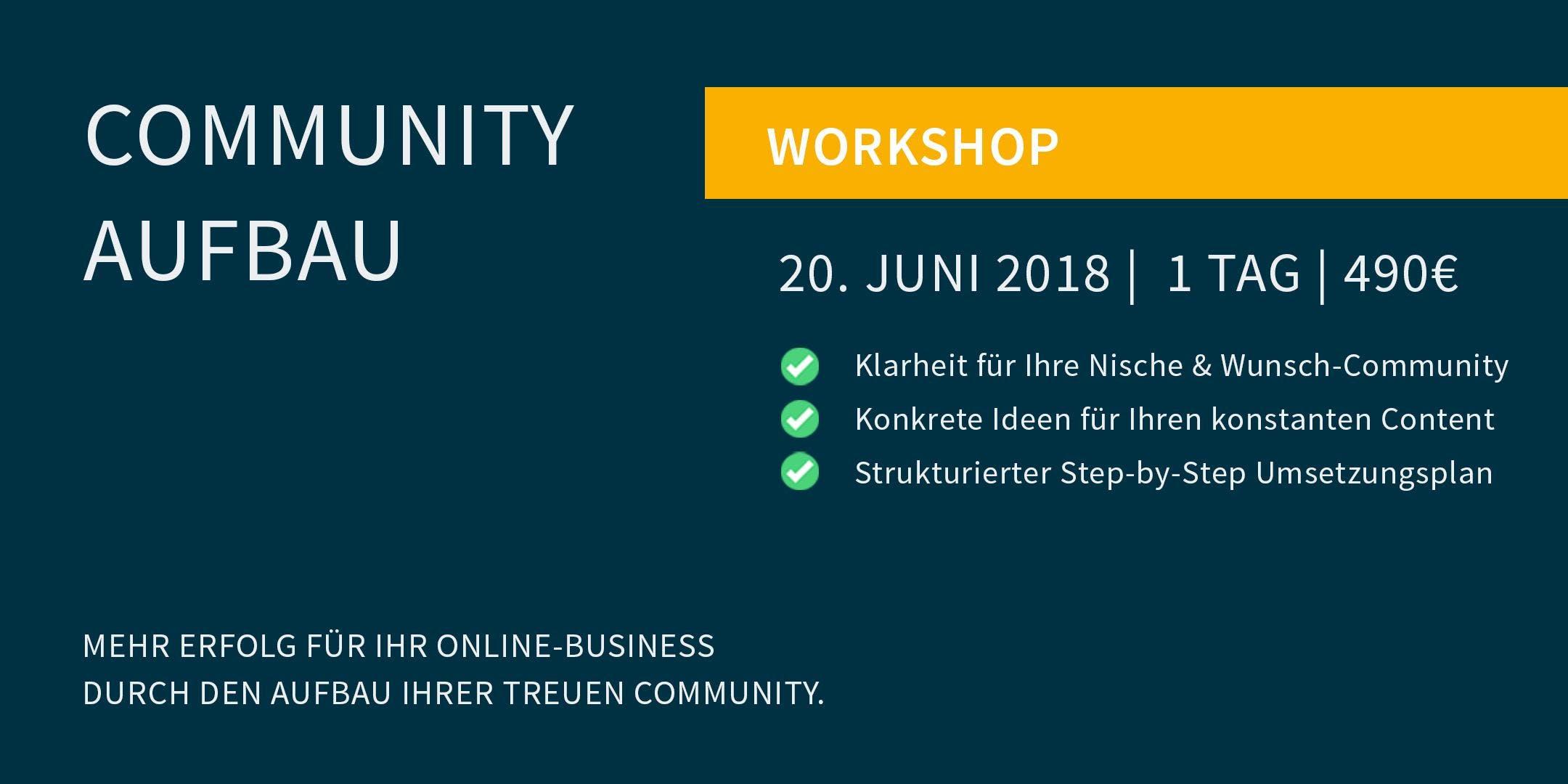 Workshop Community Aufbau