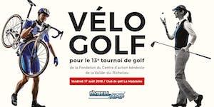 Vélo-Golf - 13e tournoi de golf de la Fondation du...