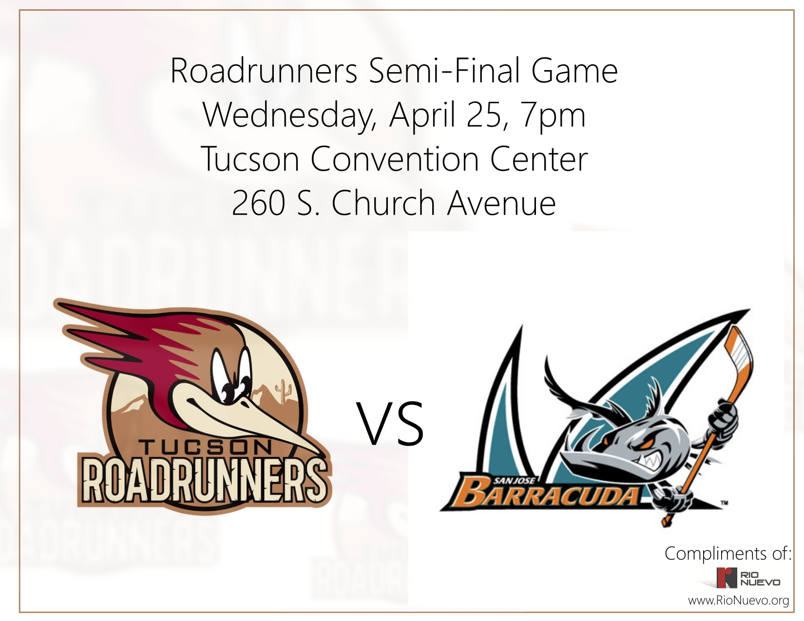 Tucson Roadrunners Tickets for Teachers!
