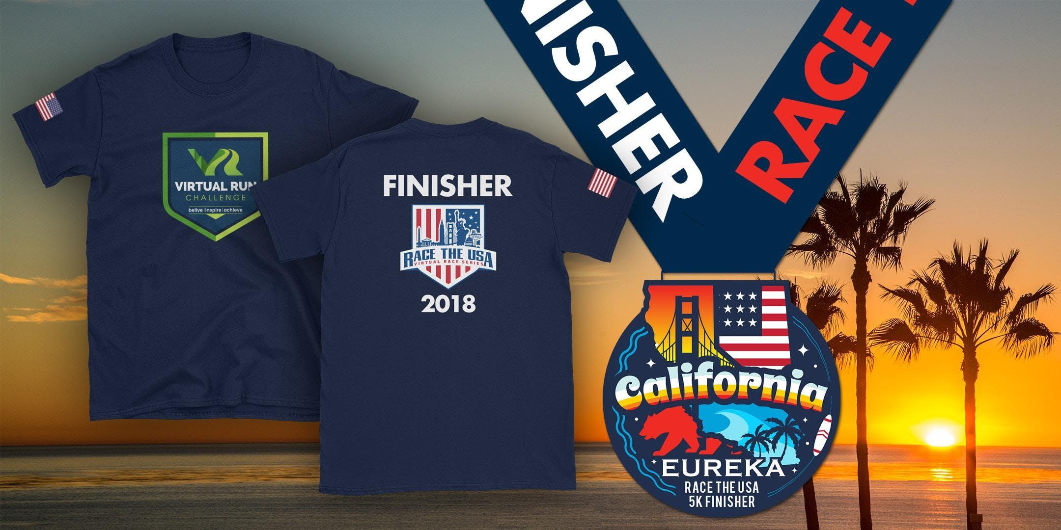 Race the USA California Virtual 5k Run/Walk - San Diego