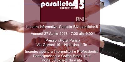 Incontro Informativo BNI Capitolo Parallelo45