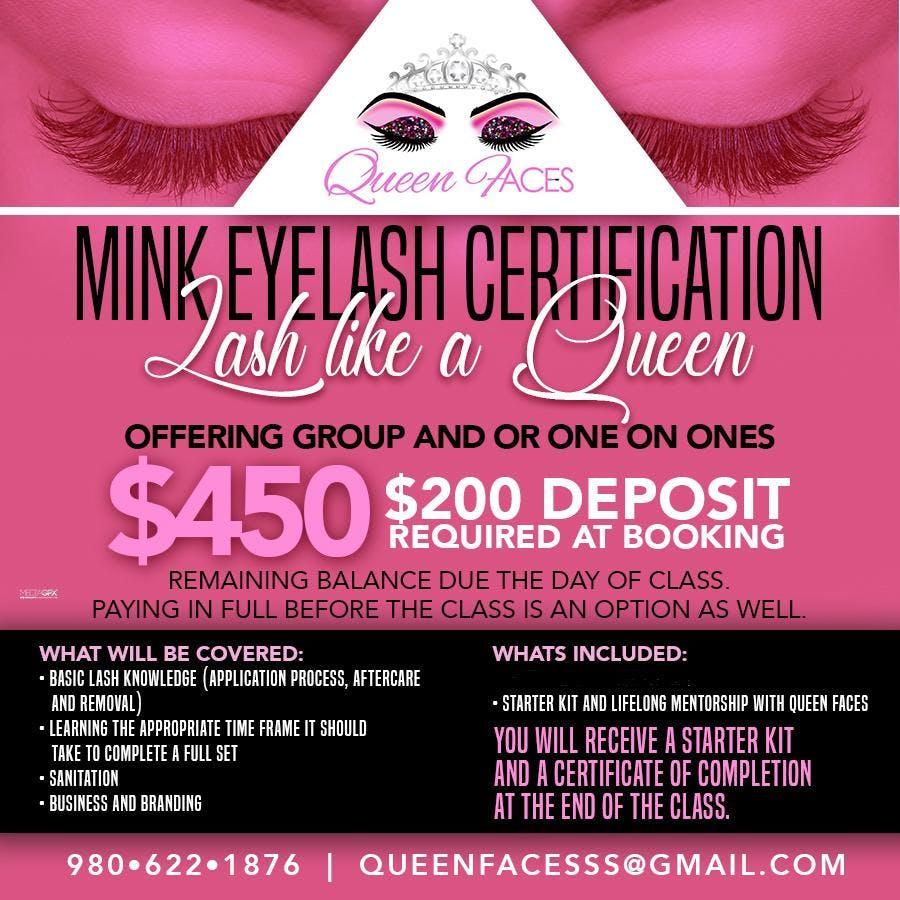 Eyelash Certification Class 3 Jun 2018