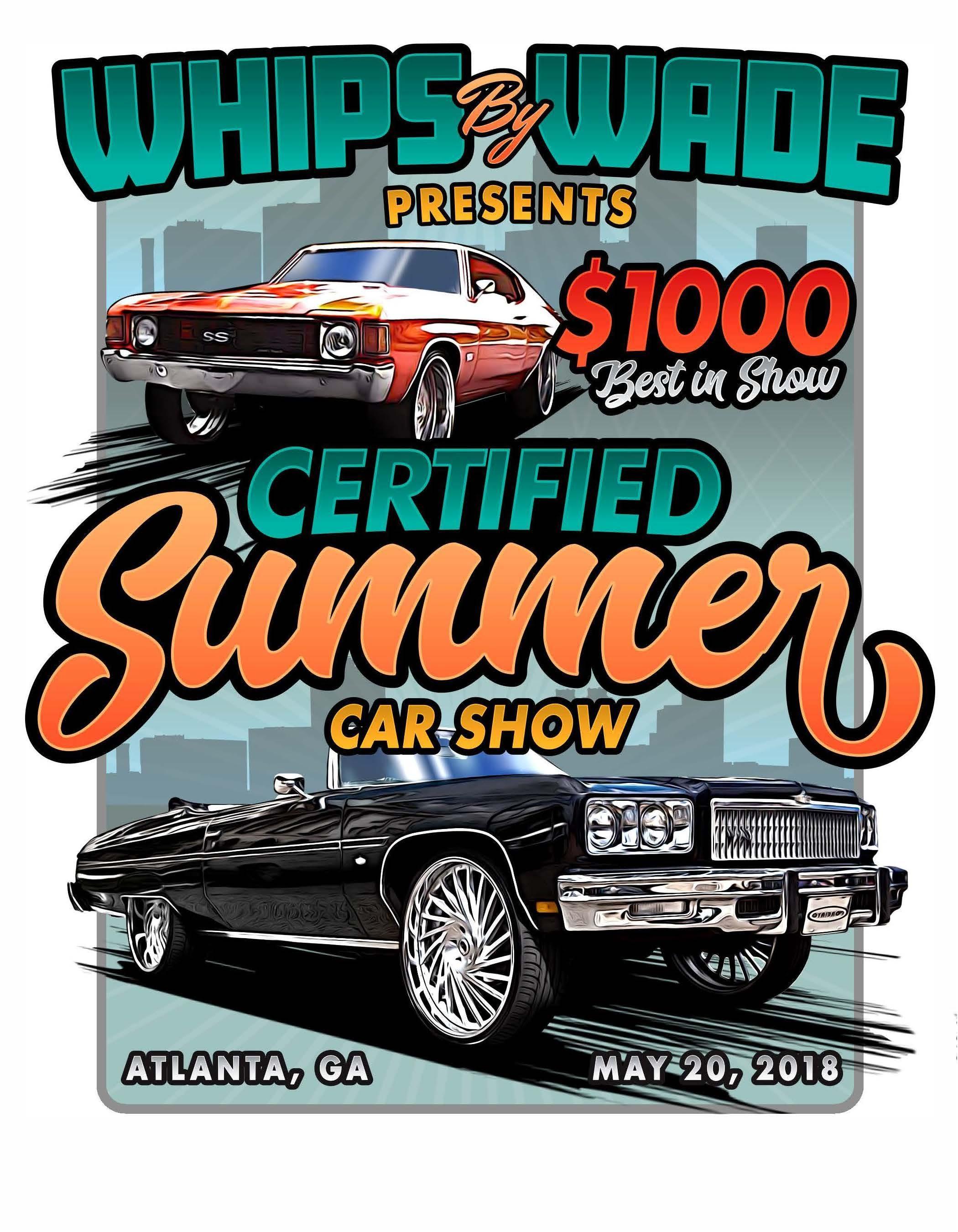 Certified Summer Car Show MAY - Classic car show atlanta