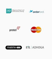ETL ADHOGA orderbird Protel Matrix Mastercard logo