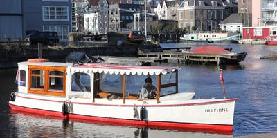 Amsterdam canal cruise on a small historic boat