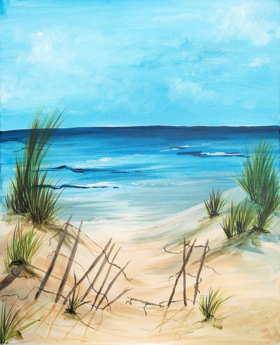 Life's a Beach Brush Party - Kings Arms - Ber