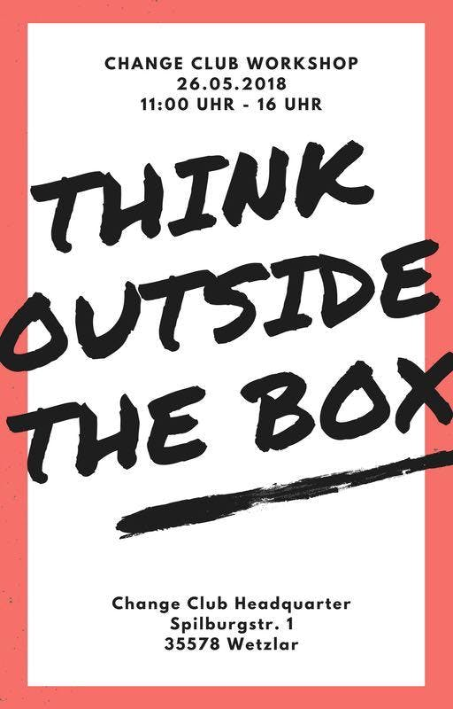 Think outside the Box - Workshop