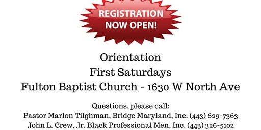 Pathway To a Purpose program - Sandtown area only