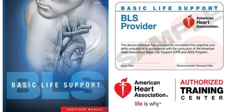 Basic Life Support For Healthcare Providers CPR/AED Renewal tickets