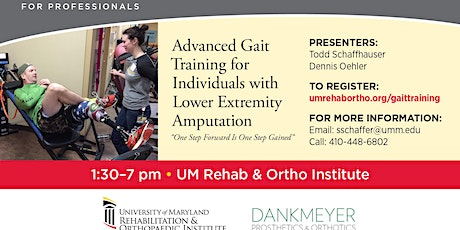 ADVANCED GAIT TRAINING FOR PERSONS WITH AMPUTATION tickets