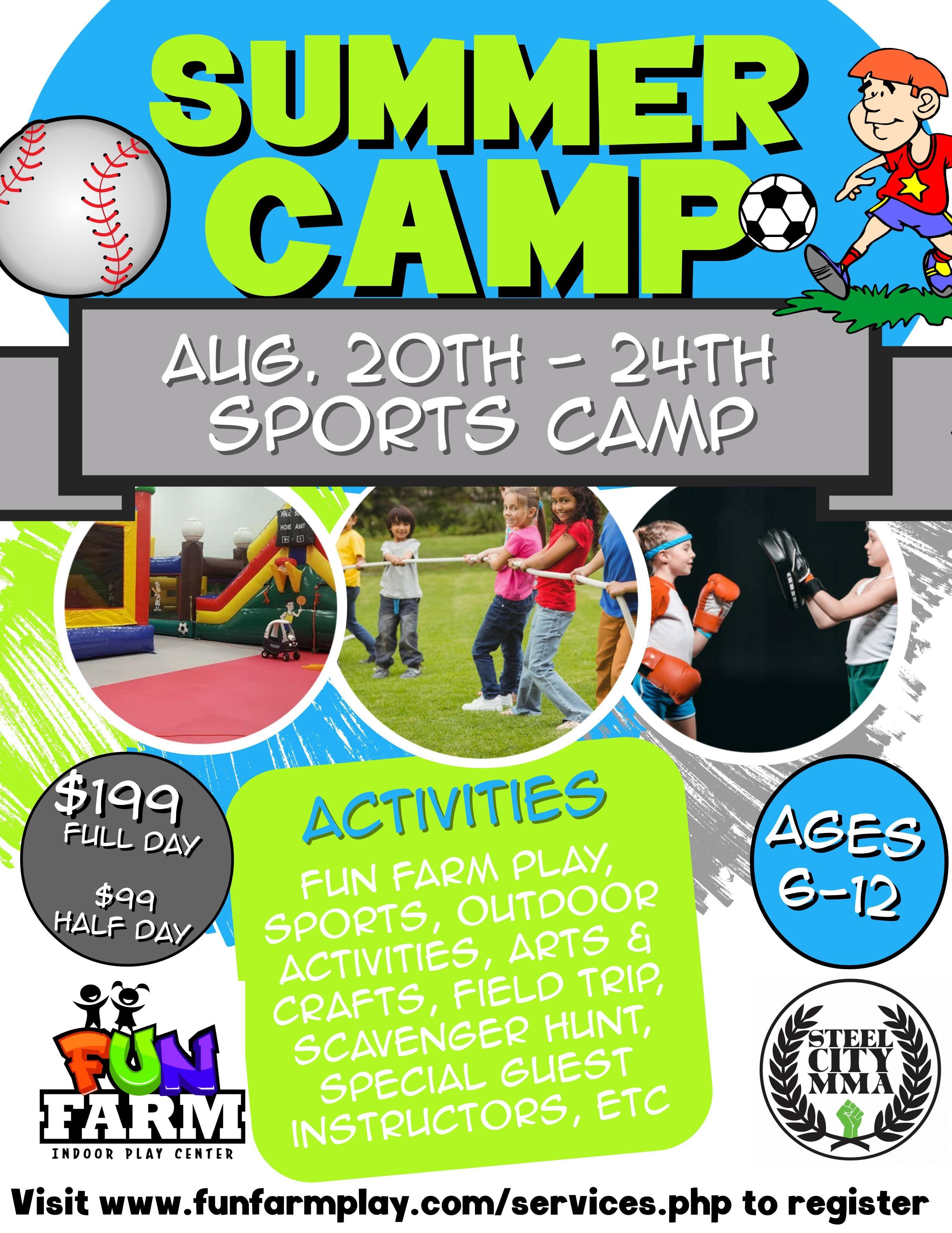 Summer Camp, Aug 20th - 24th - Sports Week