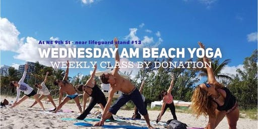 Wednesday AM Beach Yoga by Donation