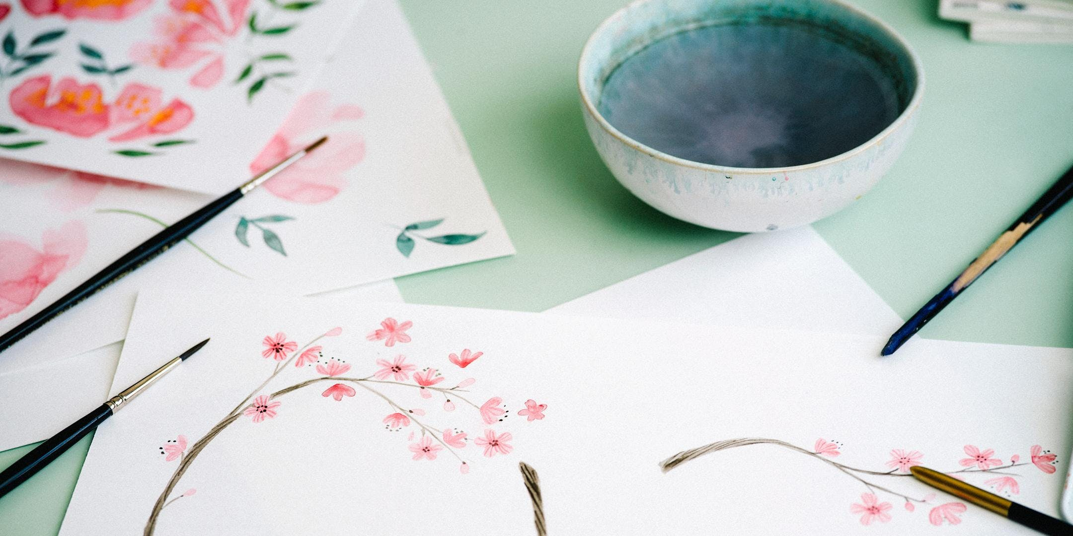 Floral Wreath Watercolour Workshop with Emma Block