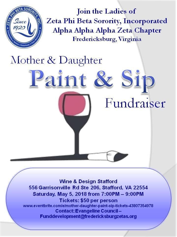 Mother Daughter Paint Sip At Wine Design Stafford Stafford
