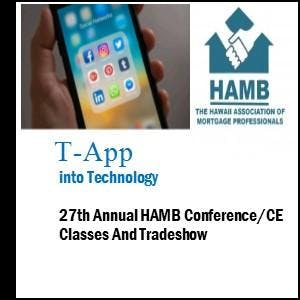 T-App Into Technology - 27th Annual HAMB Conf