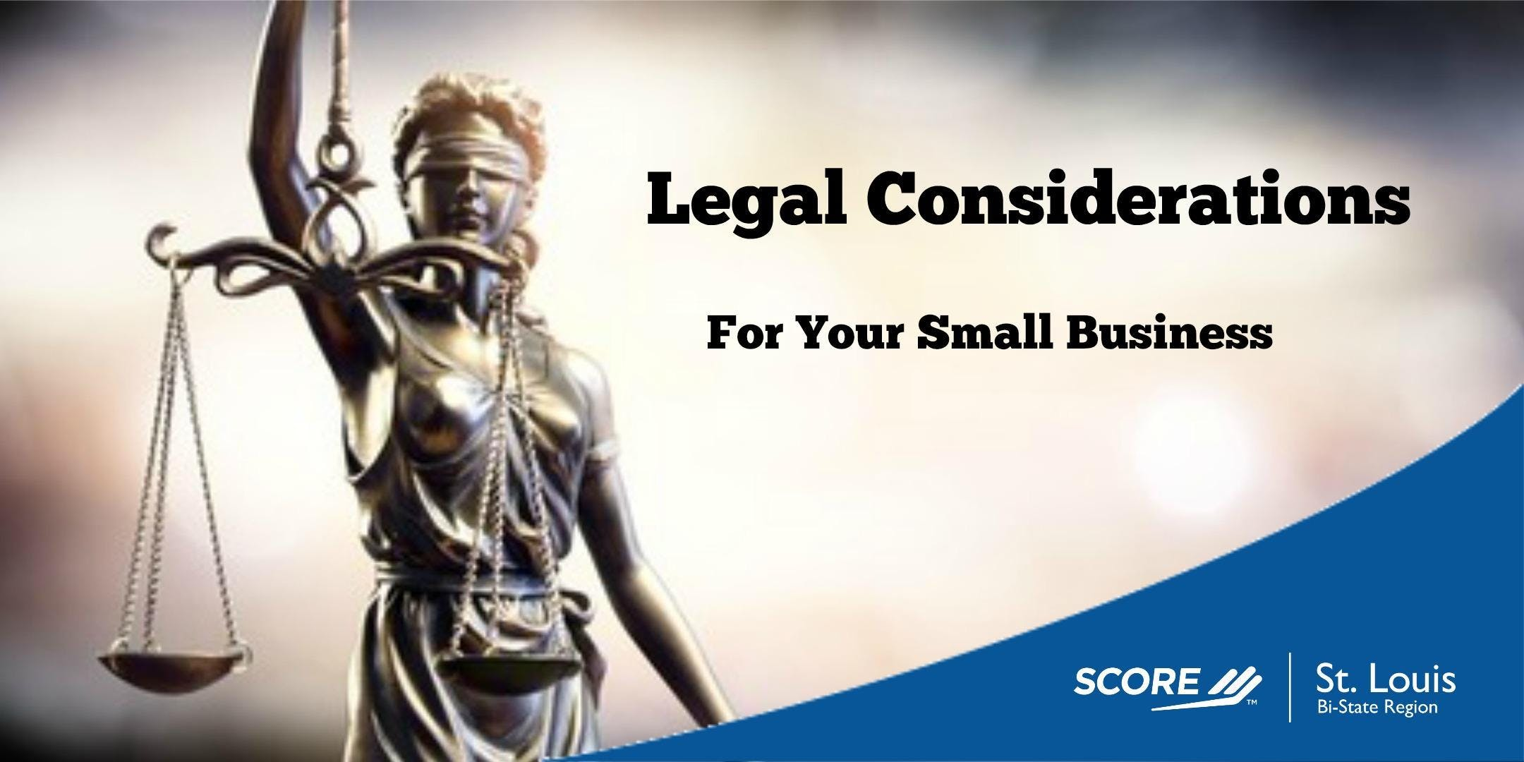 Legal Considerations for Small Business 06252