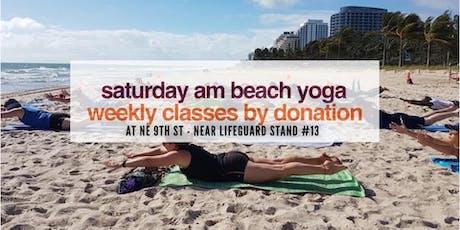 Saturday AM Beach Yoga by Donation tickets