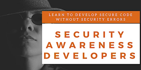 Security Awareness Developers Training (English) tickets