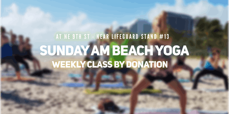 Sunday AM Beach Yoga by Donation tickets