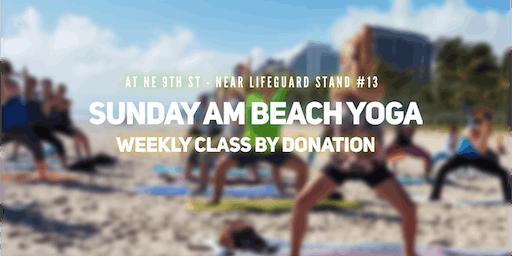 Sunday AM Beach Yoga by Donation