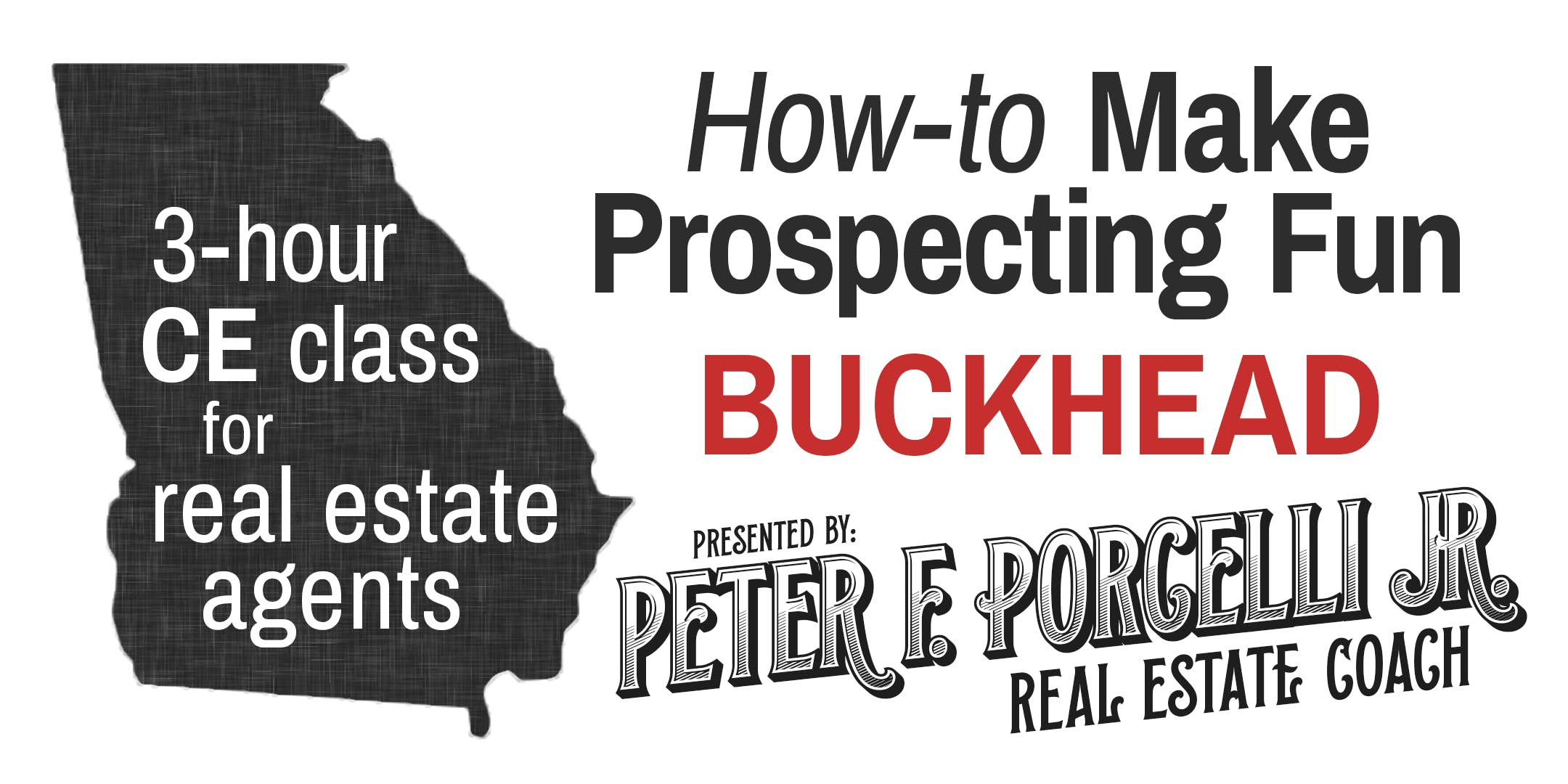 How-to Make Prospecting Fun; 3 hrs. CE class