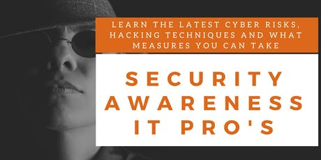 Security Awareness IT Professionals Training (English) tickets