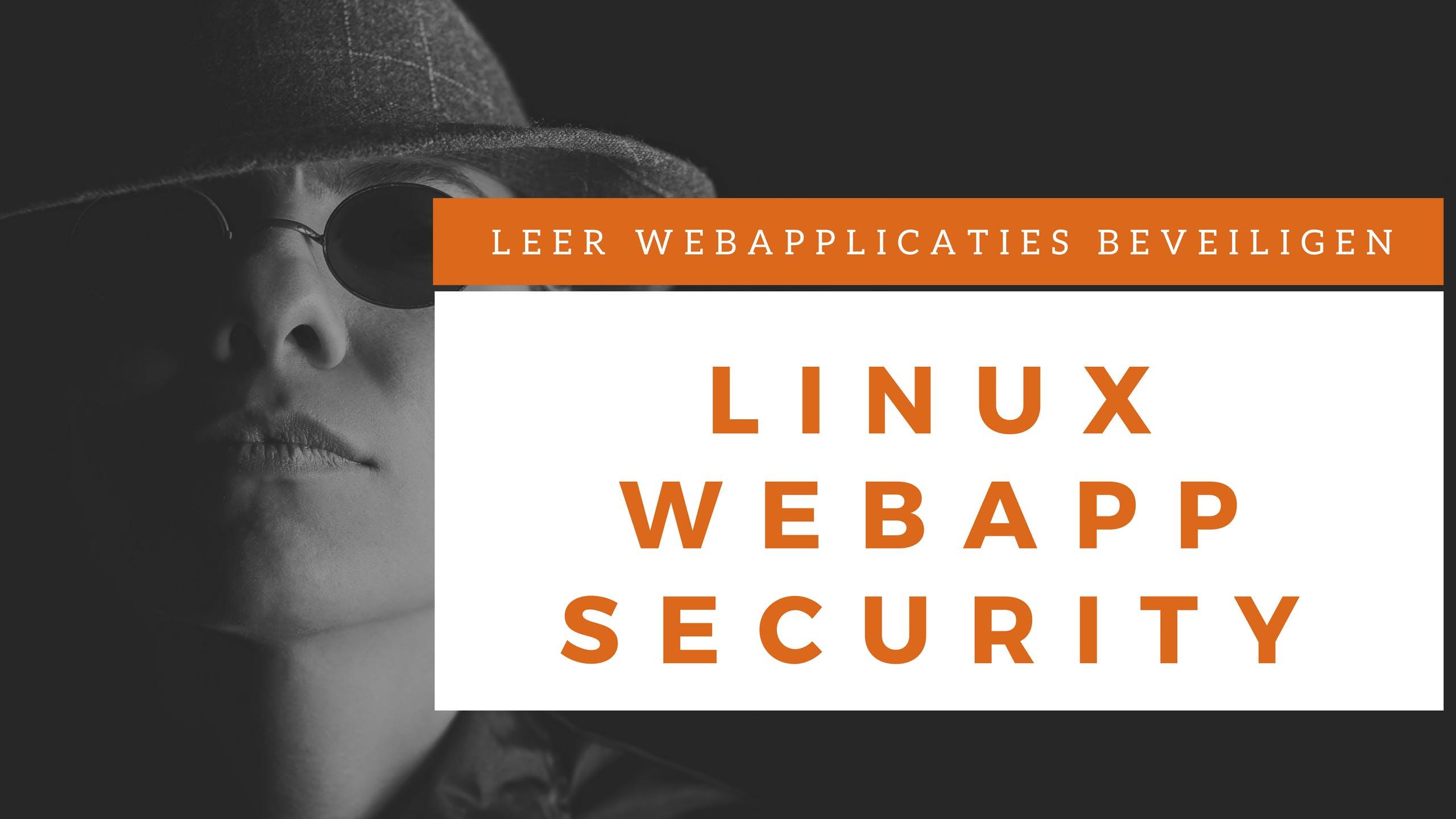 Webapplicatie Security Klassikale Training (N