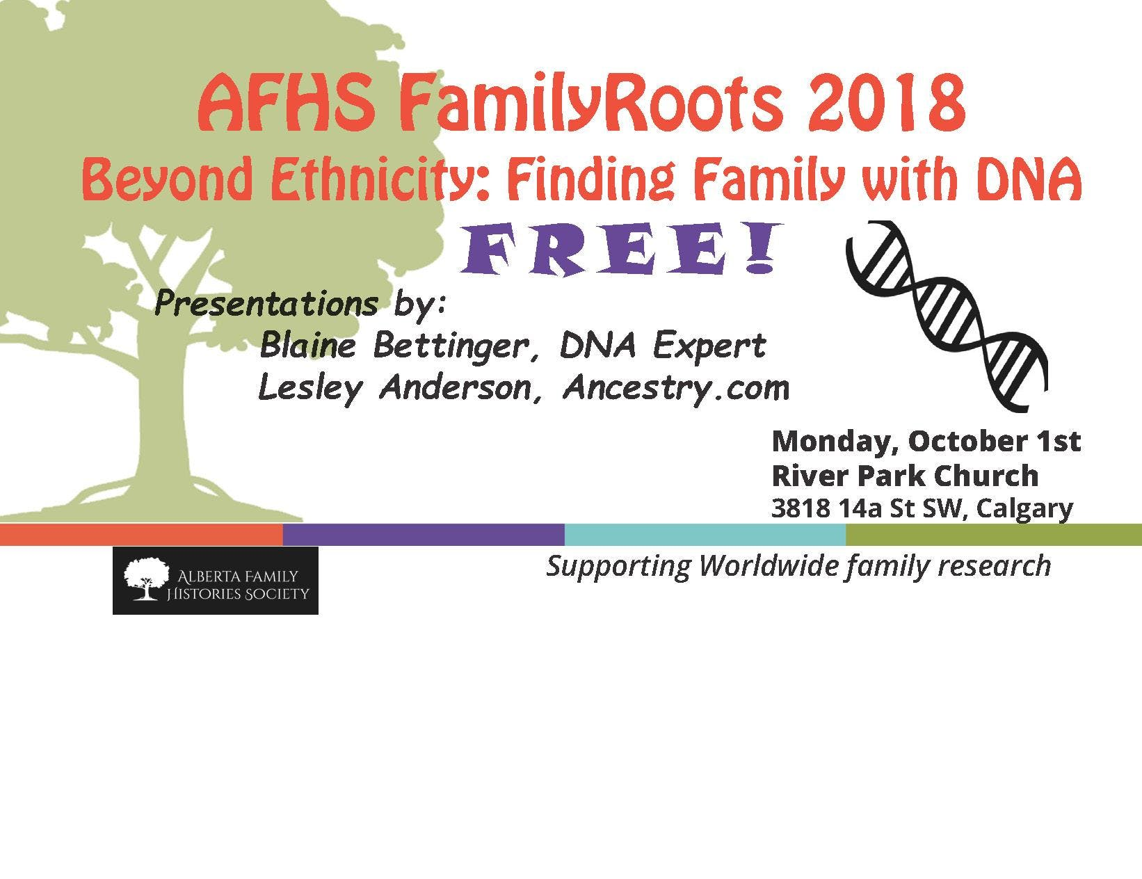 AFHS FamilyRoots 2018 - FREE Monday Evening D