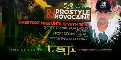 event in New York City: Sat. 05/05: No Cover for All until 12am, 2 for 1 Drinks & Hookah @ TaJ NYC.