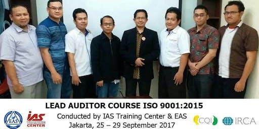 Public Training Lead Auditor ISO 9001:2015 Sertifikasi IRCA