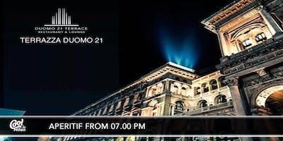 DUOMO21 TERRAZZA MILANO - MARTEDI 16 OTTOBRE 2018 - ROOFTOP COCKTAIL PARTY - LISTA MIAMI - ACCREDITI E TAVOLI AL 338-7338905