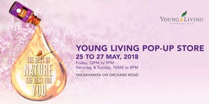 Young Living Singapore Pop Up Store 25 to 27 May 2018